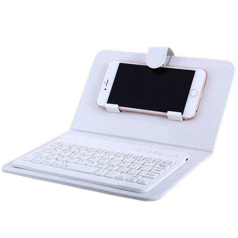 Xu Hot Portable PU Kulit Pembungkus Keyboard Nirkabel untuk iPhone dengan Keyboard Bluetooth untuk 4.2-6.8 Inci Ponsel Spesifikasi: Keyboard Bluetooth + Casing Kulit