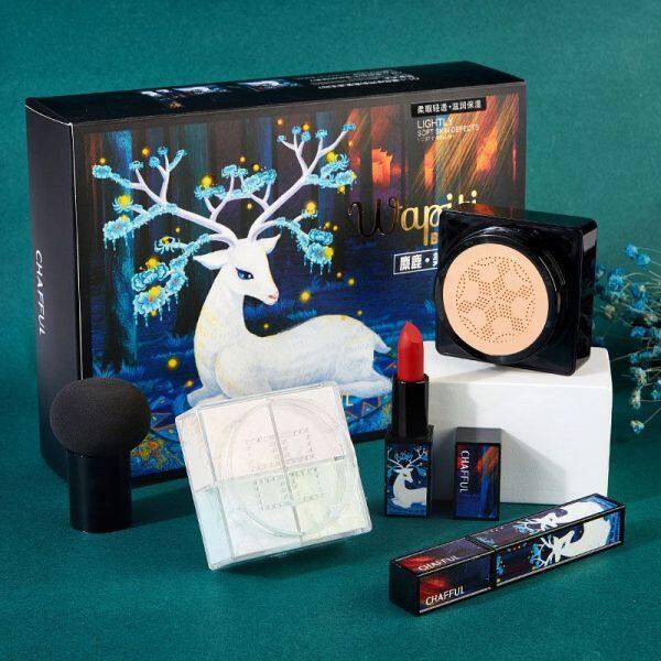 Buy Elk Makeup Set Lipstick Loose Powder Mascara BB Cream Small Mushroom Air Cushion Singapore