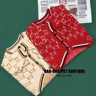 DY Loving thời trang thương hiệu chất lượng cao Dog quần áo ấm Dog Áo len V cổ Dog Coat thumbnail