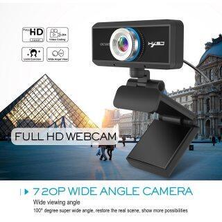 Webcam HD HXSJ S90 Có Mic, Máy Quay Cuộc Gọi Video Cao Cấp 2.0 Độ USB3.0 720 360 P Có Thể Điều Chỉnh, Camera Máy Tính HD thumbnail