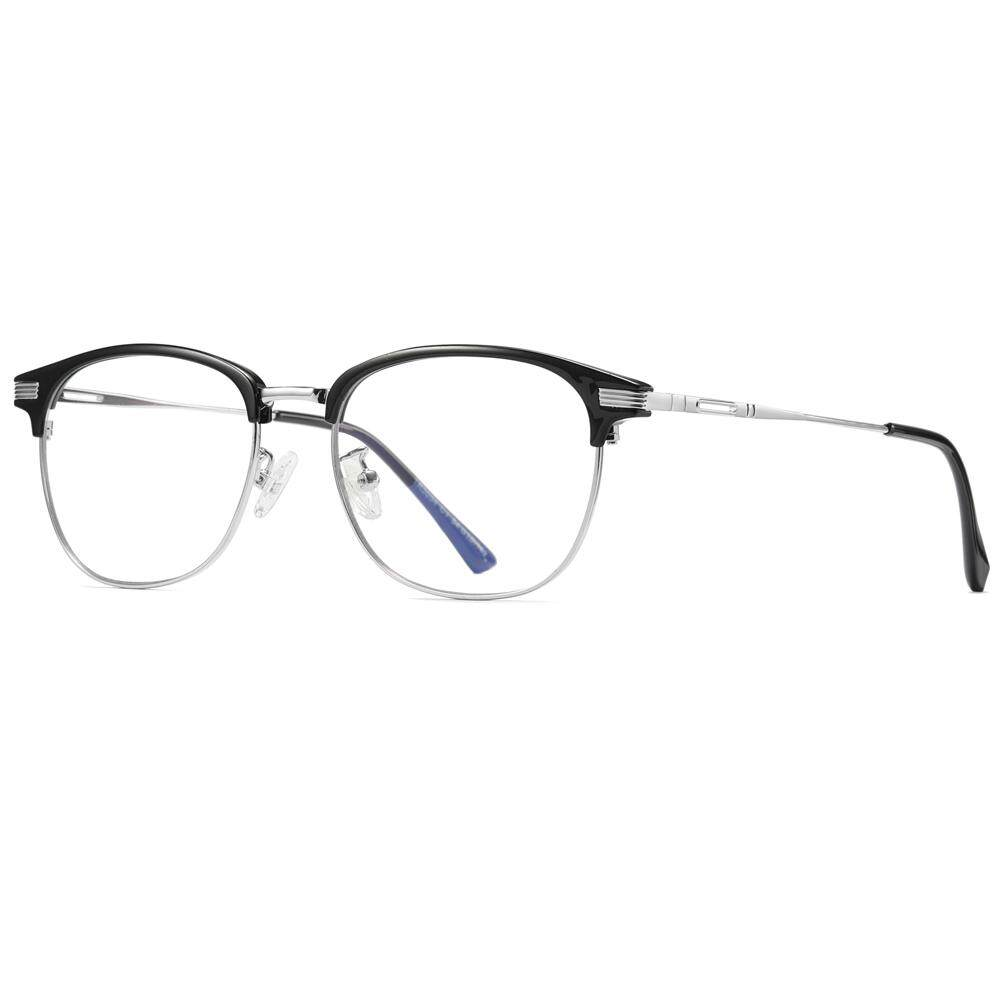 Komputer Optik Kacamata Anti Cahaya Biru Hitam Semi Tanpa Bingkai Setengah  Logam Tr90 Kacamata Aksesori Mata 66328911d9