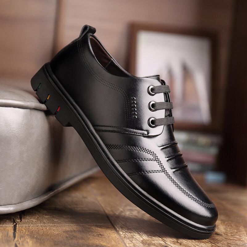 Giày Da Nam, Đế Mềm, Da Mềm, Giày Thông Dụng Thoáng Khí, Giày Phiên Bản Hàn Quốc Của Anh Phù Hợp Với Tất Cả Các Loại Giày Công Sở Màu Đen Cửa Hàng Sưu Tập Gửi Thắt Lưng giá rẻ
