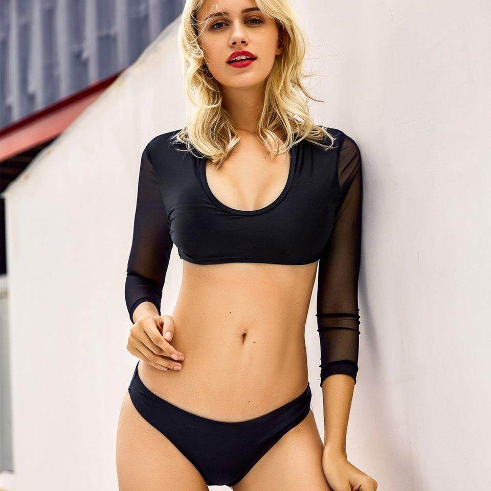 4032635ee7380 Crazy Sale Swimming Two-piece Casual Lady Summer Swimsuit Halter Bikini  Bathing Suit