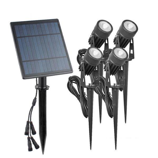 Solar Spike Spot Lights 4W Outdoor Garden Lawn Led IP65 Waterproof Lamps