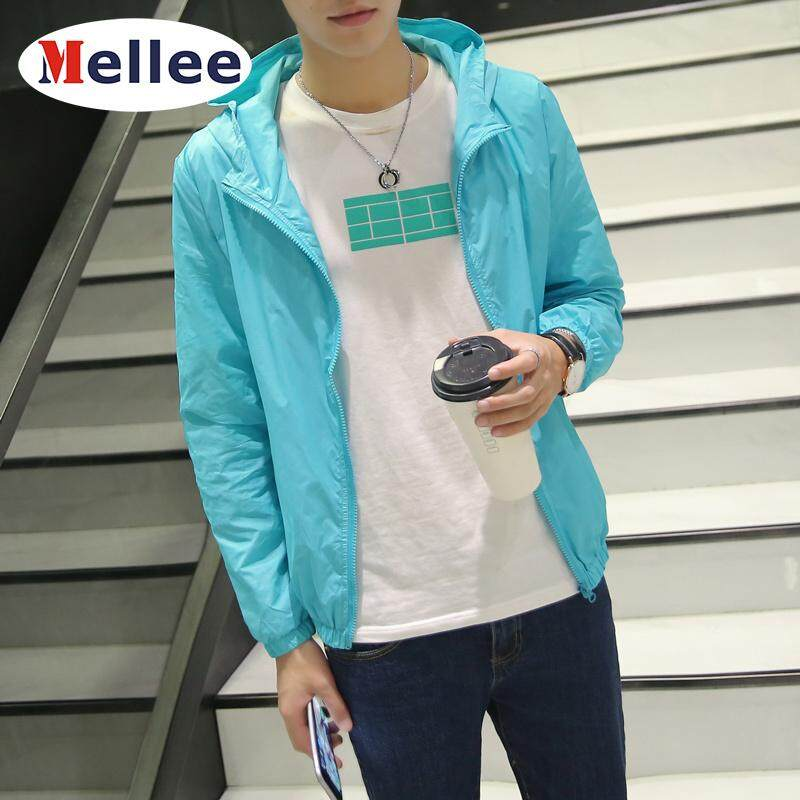 Mellee ผู้ชาย Sun เคส Samsung บางเข้ารูปพอดี Hooded ซิปแขนยาว Coat By Mellee.