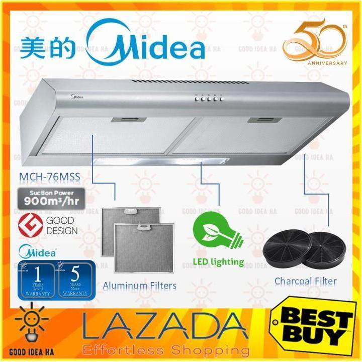 Midea Slim Cooker Hood ( Mch-76mss/mch76mss ) - Stainless Steel By Good Idea Ha.