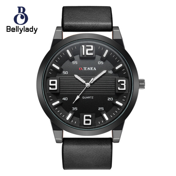 Men Women Couple Leather Belt Quartz Movement Pointed Watch Wristwatch Malaysia