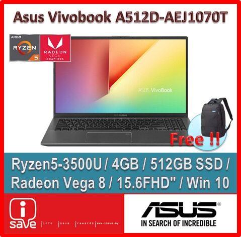 ASUS Laptop Vivobook A512D-AEJ1070T 15.6  Slate Grey ( Ryzen 5-3500U, 4GB, 512GB SSD, ATI, W10 ) Malaysia