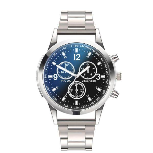 Men Fashion Watches Luxury Watches Quartz Watch Stainless Steel Dial Casual Bracele Watch Malaysia