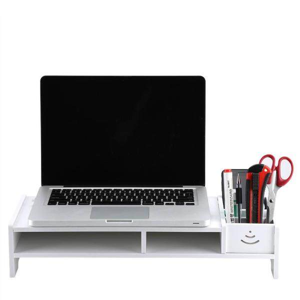 Sunflower Computer Monitor Riser Laptop PC Stand Home Office Desktop Table Storage Organizer Shelf