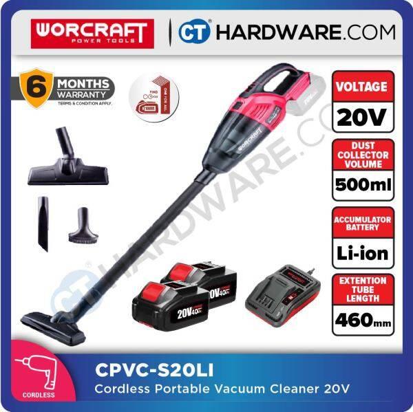 WORCRAFT CPVCS20LI CORDLESS PORTABLE VACUUM CLEANER 20V 3.8KPA DRY 500ML (CPVCS20LISOLO)