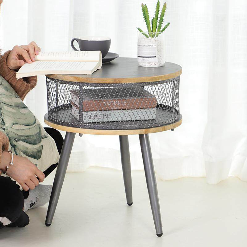 End Table Coffee Table Side Table Space Grey Color Metal Legs 40*40*46 CM By Olive Al Home