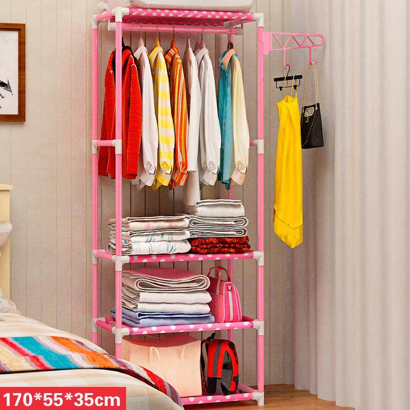 Multi function Simple Wardrobe Clothes Organizer & Storage Rack / Open Closet 170x35x55 by Olive Al Home