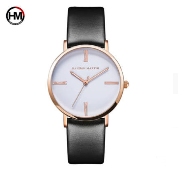 [FAST SHIPPING][ LOCAL SELLER] 100% Original New Brand Quality Assure H&M HANNAH MARTIN Fashion Watch For Women Business Causal Waterproof Watches Stainless Steel Starp JAPAN Movement Quartz Watches Malaysia