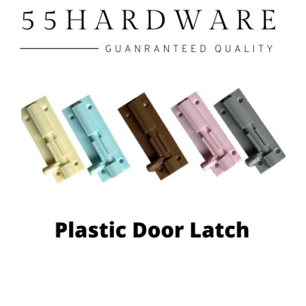 Plastic PVC Door Latch Hinge Bolt Selak Pintu Lock 塑料门锁