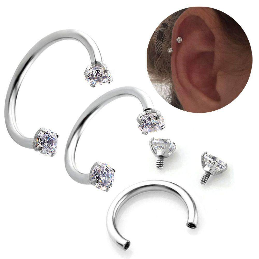 Fashion Stainless Steel Piercing Septo Nose Lip Eyebrow Ear Septum Cartilage Helix Captive Hoop Ring Jewelry
