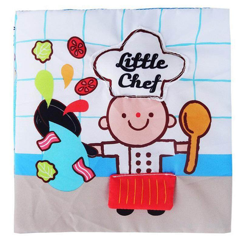 Little Chef 3D Infant Soft Fabric Cloth Baby Book Toddler Touch and Feel Development Quiet Book