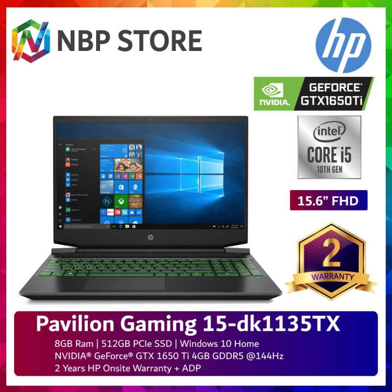 HP Pavilion Gaming 15-dk1135TX 15.6 FHD 144Hz Laptop Shadow Black ( i5-10300H, 8GB, 512GB SSD, GTX1650Ti 4GB, W10 ) Malaysia