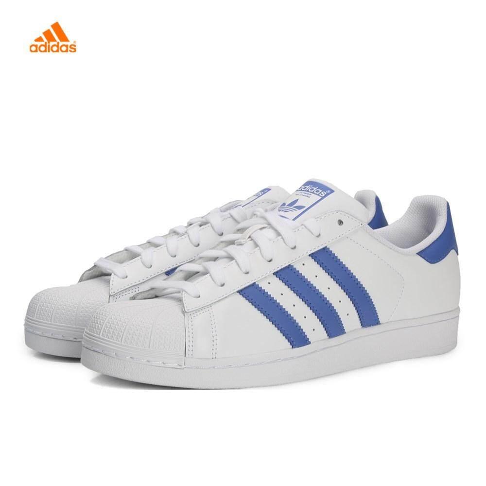 100% Original Adidas_superstar Clover G27810 แฟชั่นสีขาวรองเท้าผู้หญิงรองเท้าคู่นักเรียนกีฬารองเท้ารองเท้าผ้าใบ.