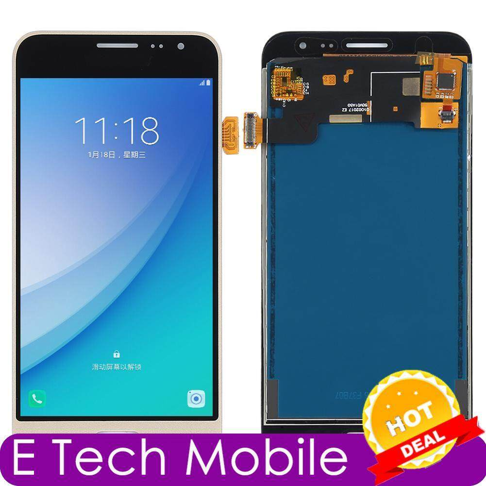 E Tech Mobile single assembly for Samsung J3 2016/J320 (cannot adjust  brightness) black / gold / white LED screen replacement