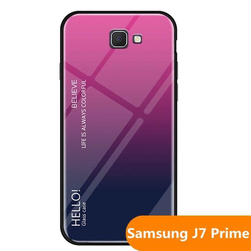 Giá Zeallion Cho [[Samsung Galaxy J7 Prime/On7 2016] Gradient Kính Cường Lực Lưng Bảo Vệ Điện Thoại