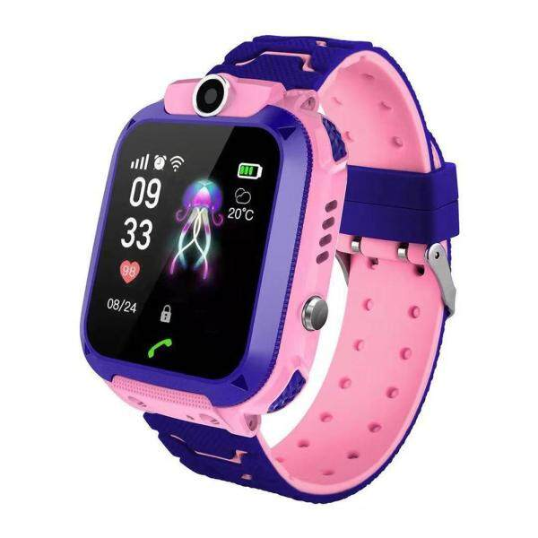 16mm 5G Children Phone Watch Silicone Strap Video Call Smart Watch Two-Color Wristband Malaysia