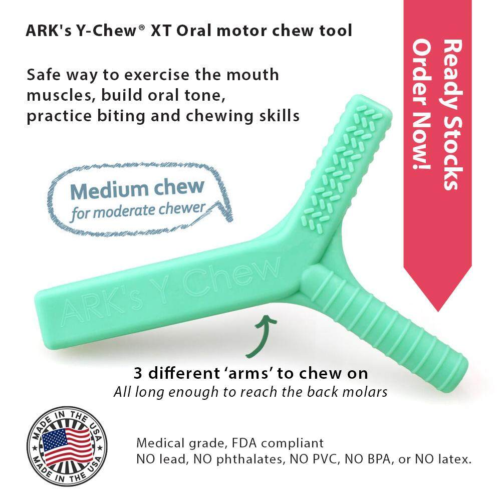 ARKs Y-Chew® XT Oral Motor Chewy (Turquoise firmer but still chewy) for  ADHD/ADD/AUTISM/Sensory needs toys for girls
