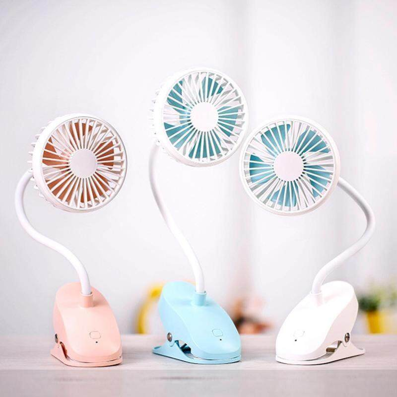 【JOYBUY】2000mAh Multifunction Rechargeable Portable Clip USB Charging Baby Stroller Fan Singapore