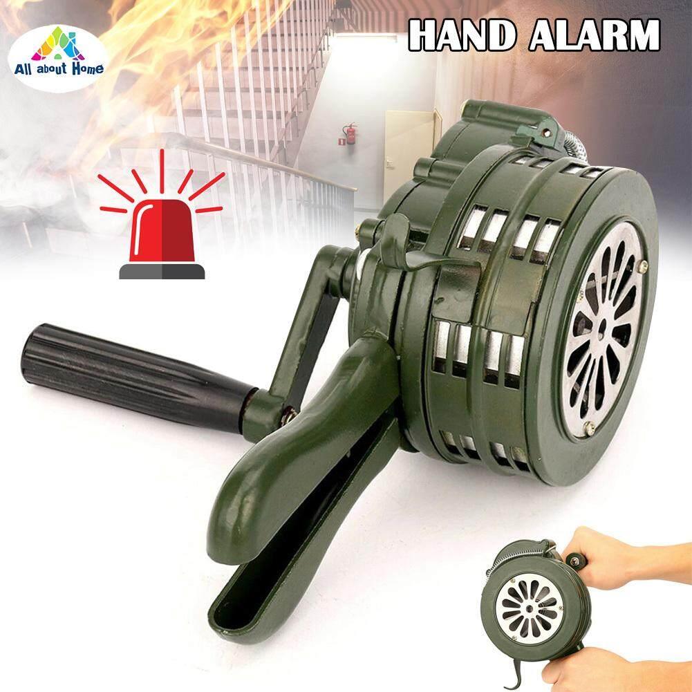 ABH Hand Crank Siren Horn 110dB Manual Operated Metal Alarm Air Raid Emergency Safety