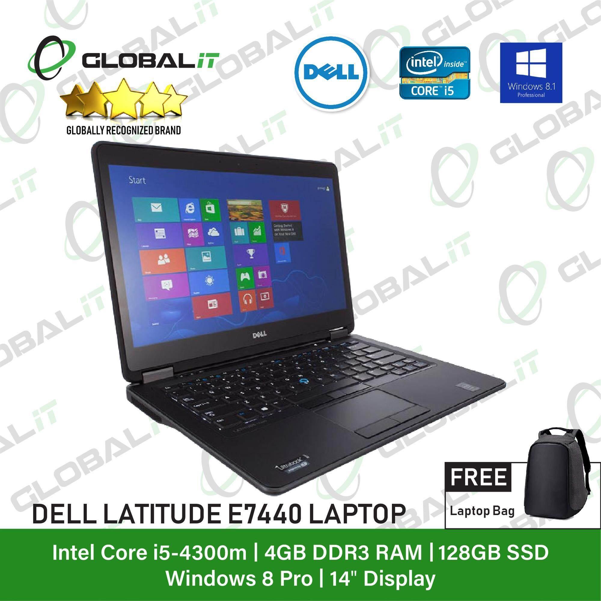 (Refurbished Notebook) Dell Latitude E7440 Laptop / 14 inch LCD / Intel Core i5-4300M / 4GB DDR3 Ram / 128GB SSD / WiFi / Windows 8 Pro Malaysia