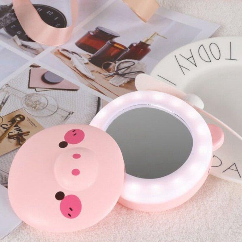 Bảng giá Hola Thời Trang Mới Heo Con Có Thể Sạc Qua USB Quạt Nhỏ Cầm Tay Đèn Led Gương Trang Điểm Phong Vũ