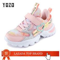 Giày thể thao cho bé gái yozo, giày chạy thoáng khí, có đèn Led pha lê phát sáng, phong cách thường ngày