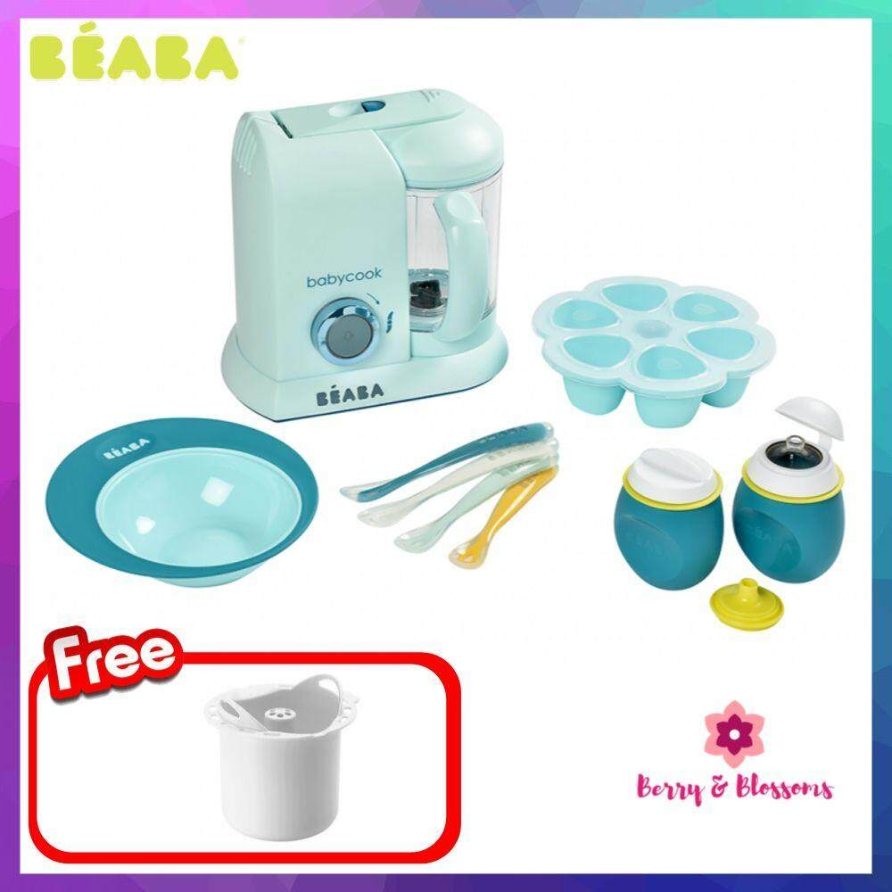 Beaba Healthy Meal Starter Pack 4 in 1 Baby Food Processor FREE Rice/Pasta Cooker image on snachetto.com