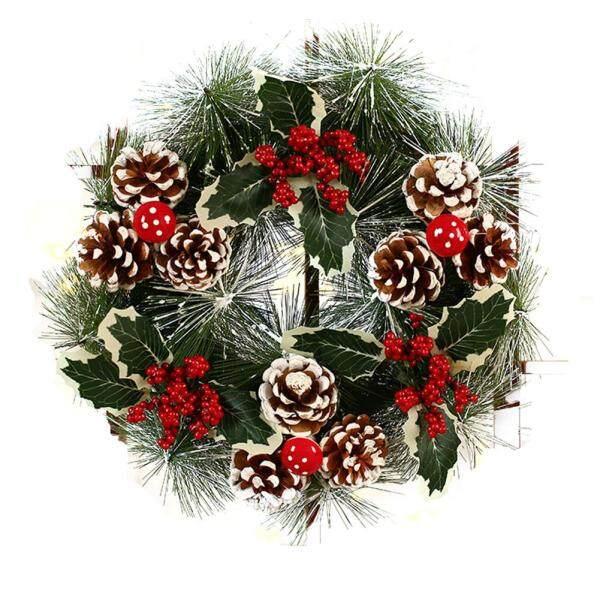 PER Christmas Handmade Door Wreath Rattan Pendant Garland Shopping Mall Christmas Tree Decoration Ornament 11.81*11.81In