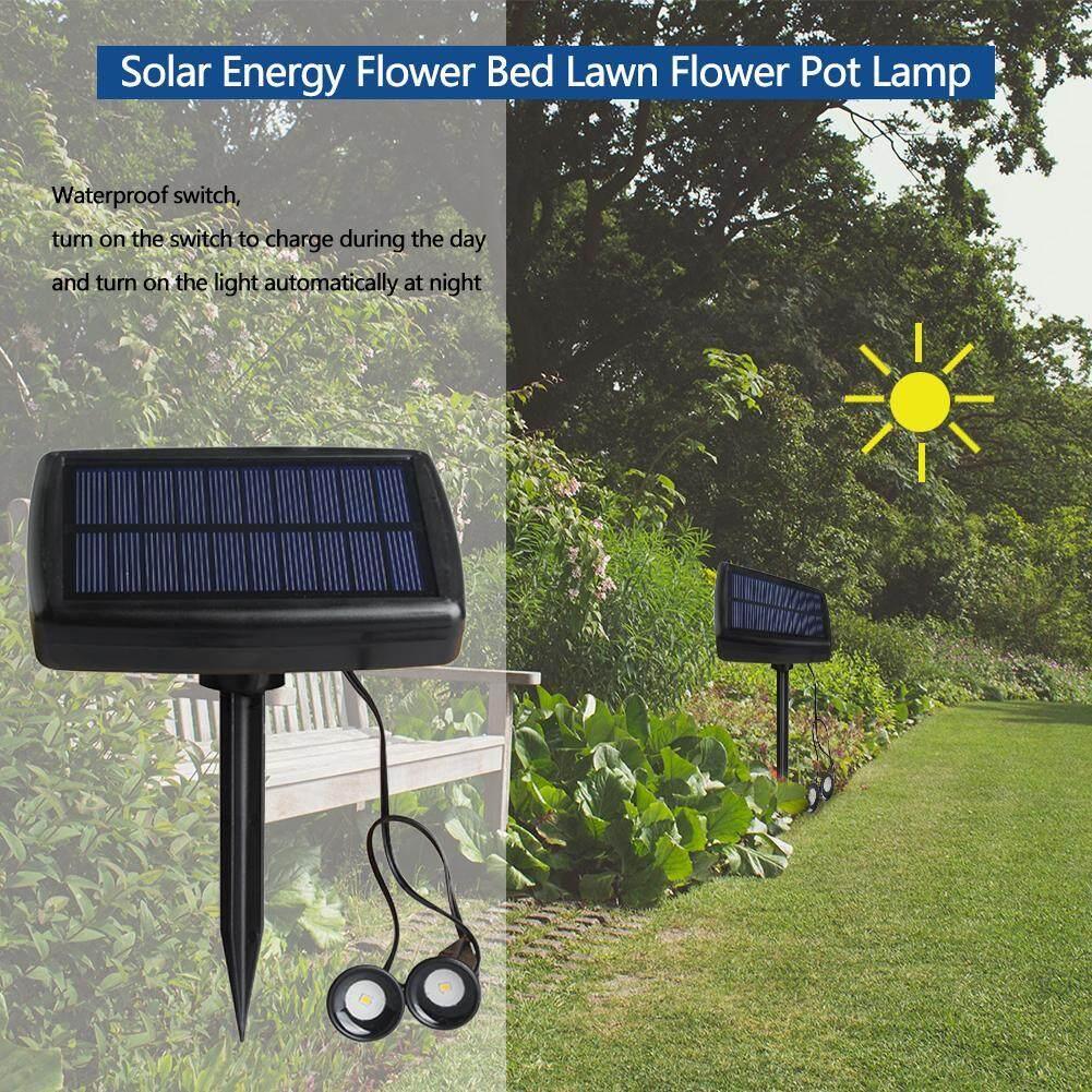 Waterproof 5V 0.5W Solar Spotlight LED Lawn Lamp Outdoor Garden Night Light