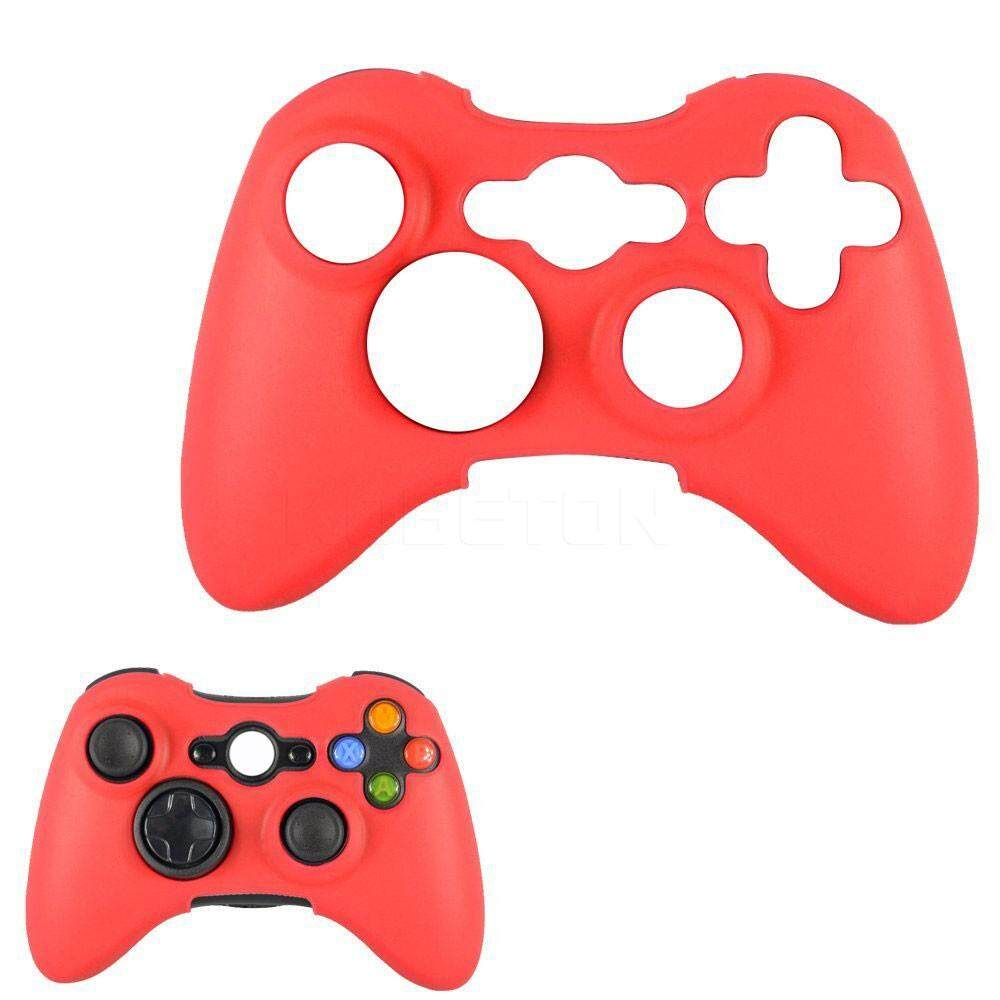 Silicone Cover Case Skin For Xbox 360 Wireless Controller Red By Kobeton Technology.