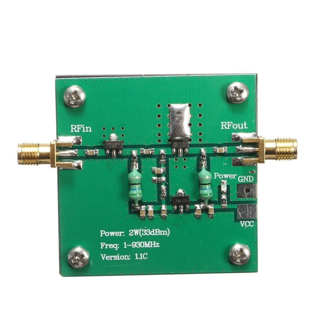 RF Băng Thông Rộng 1-930MHz Công Suất 2W Module Khuếch Đại Cho Truyền Dẫn Vô Tuyến FM HF VHF