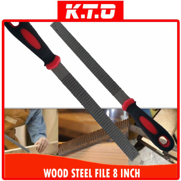 8INCH (200MM) HIGH CARBON STEEL HAND MULTIFUNCTIONAL WOOD HAND FILE FLAT SHAPE NEEDLE BLADE kikir kayu FILE for CARPENTRY WOOD WORKING