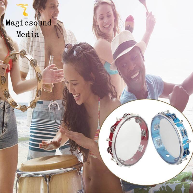 KOKKO Trống lắc tay Tambourine Handbell J93 10  Tự chỉnh Tay Trống Nhạc Cụ Gõ Đồ Chơi