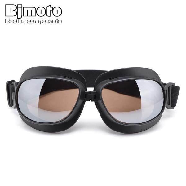 Giá bán Motor Eyewear Bảo Vệ Tất Cả Các Kính Đen Khung Retro Xe Máy Goggles Kính Thể Thao Eyeswear Ống Kính Nhiều Màu