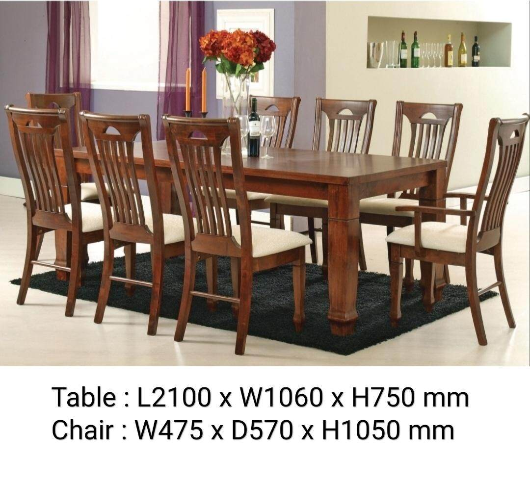Q 10 Solid Wood 1 8 Dining Set Solid Wood 8 Seater Dining Table Set Solid Wood Dining Table With 8 Chairs Solid Wood Dining Set T6082 Lazada
