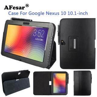 Bao Da Nexus 10 PU Bao Da Cho Ốp Lưng Máy Tính Bảng Google Nexus 10 (Của Samsung)(P8110) thumbnail