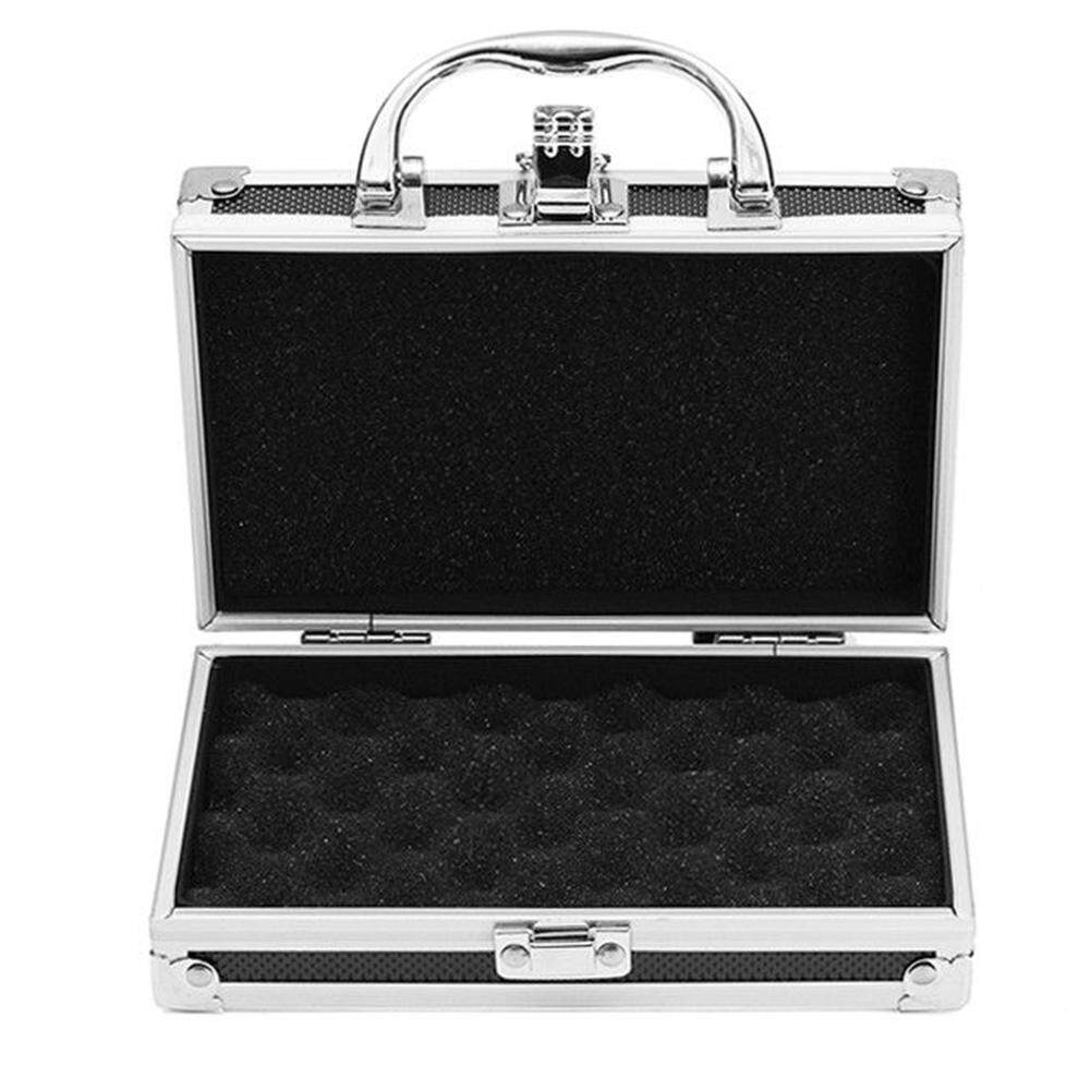 Portable Lightweight Travel Hard Carry Organiser Tool Box Storage Sponge Inside Sturdy Practical Aluminum Alloy Carry Case Durable Magic Props