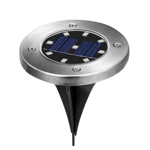 Đèn Chôn Năng Lượng Mặt Trời 9 LED Dưới Mặt Đất Đèn Trang Trí Sân Vườn Lối Đi Ngoài Trời