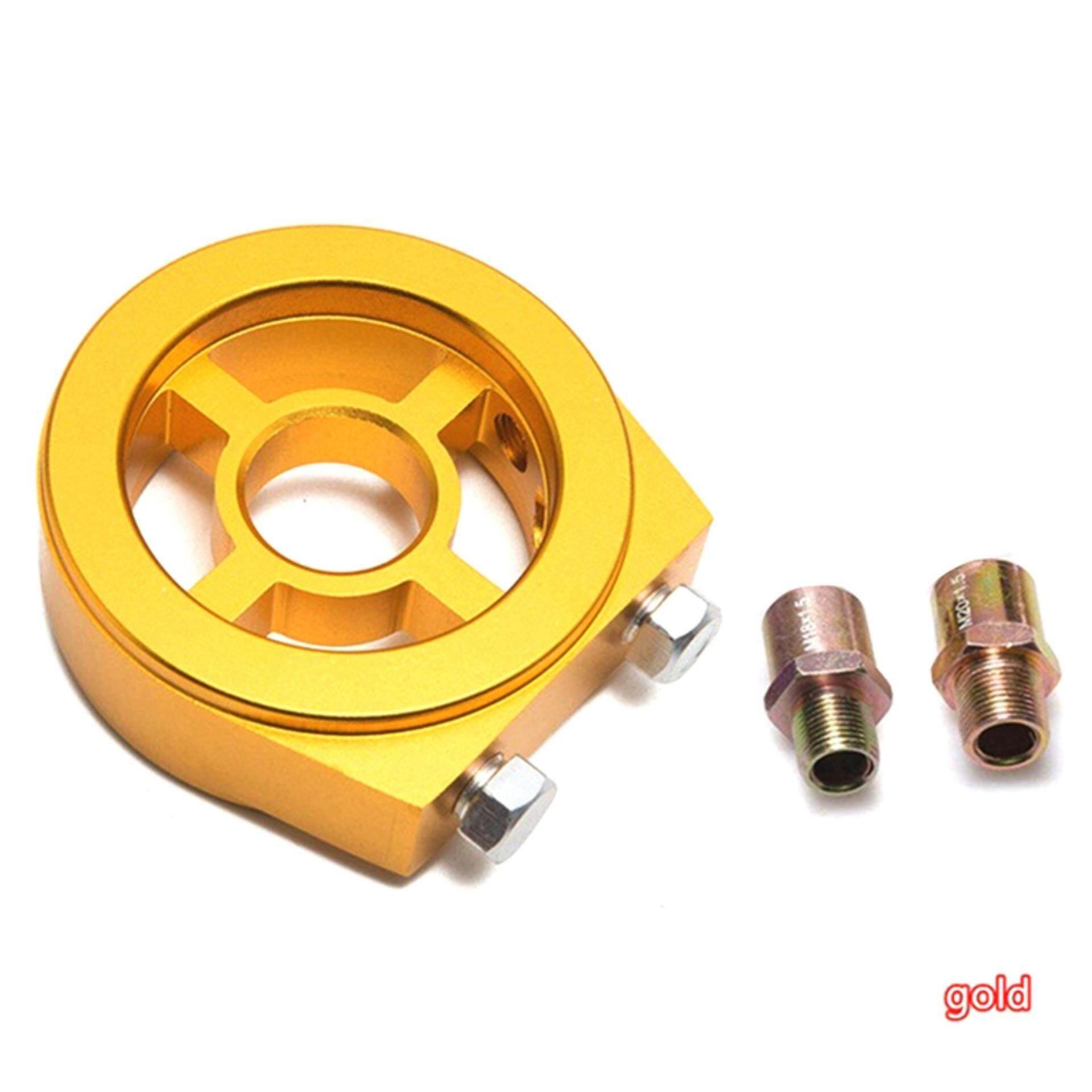 Amango M20X1 5 Car Oil Filter Pressure Cooler Gauge Sandwich Plate Adapter  Sensor