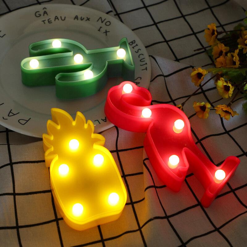 Đèn Ngủ LED Hình Hồng Hạc Dứa, Đèn LED Trang Trí Đáng Yêu Để Bàn Phòng Ngủ Gia Đình Đèn Ngủ Cho Bé