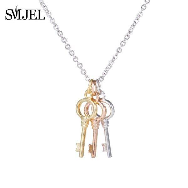 Vintage Key Necklace Collares Bijoux Mặt Dây & Necklaces Đối Với Phụ Nữ Cosplay Trang Sức Xương Đòn Chain Collier Femme Syxl106