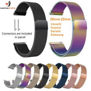Dây Đeo Cổ Điển Huami Amazfit Gtr Bip 22 20Mm Cho Samsung Gear Sport S2 S3 Đồng Hồ Galaxy Huawei GT 2 42 46Mm Hoạt Động 40Mm 44Mm thumbnail