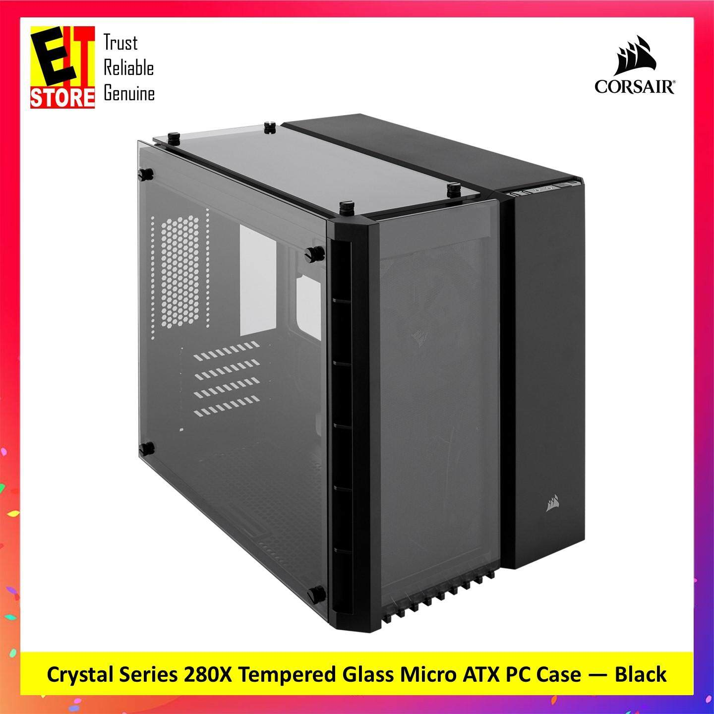 CORSAIR CRYSTAL SERIES 280X TEMPERED GLASS MICRO ATX PC CASING — BLACK (CC-9011134-WW) Malaysia