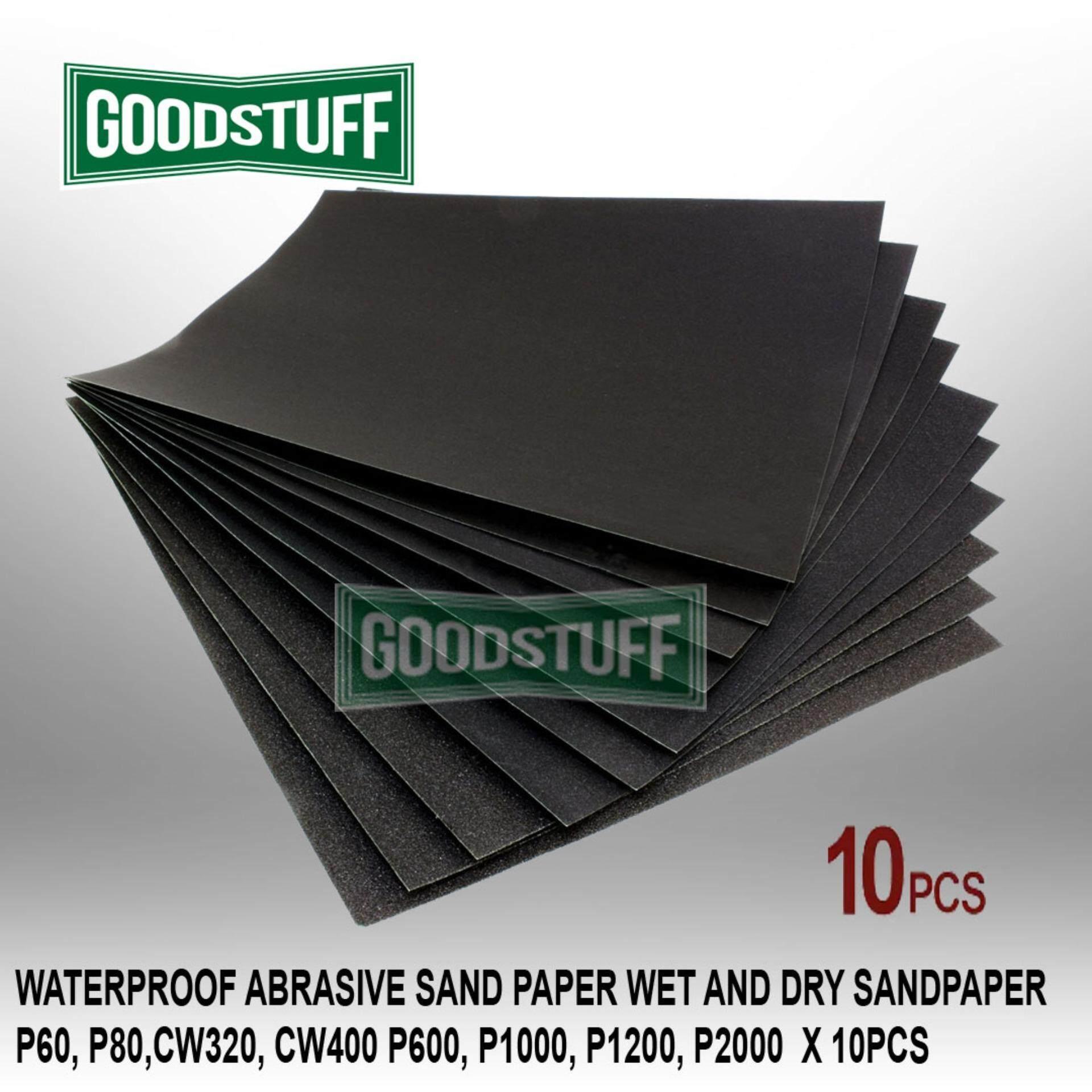 WATERPROOF ABRASIVE SAND PAPER WET AND DRY SANDPAPER X10PCS